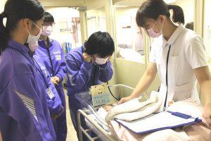 △新生児の心拍を確認。赤ちゃんの心拍はとても早い!