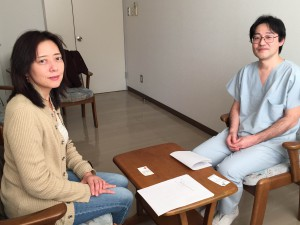 左:鹿島田 千帆アナウンサー 右:佐藤 寛丈第二外科部長