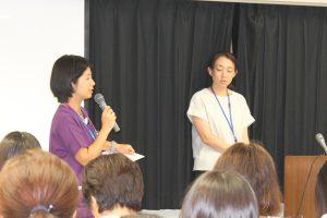 △『アレルギー指導外来の立ち上げにかかわって』左:齋藤真理第一小児科副部長、右:深谷亜矢看護師