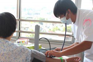 △血圧測定体験 血管音を確認することができました。